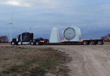 Wind Energy Transportation - Turbines, blades, genereators, nacelles